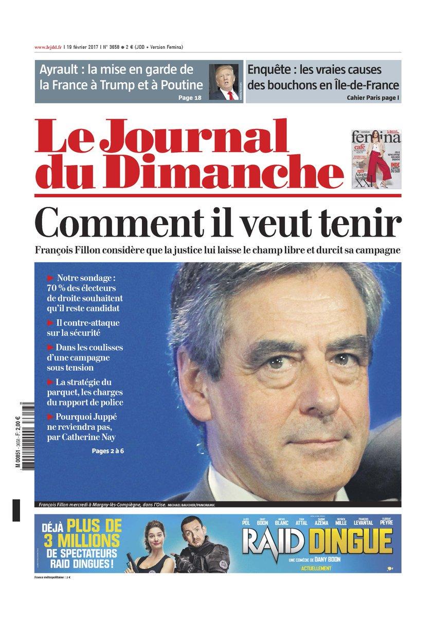 La #Une du @leJDD #Fillon, Comment il veut tenir ?<br>http://pic.twitter.com/0rqN0OJp7P