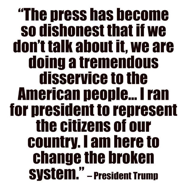 'I am here to change the broken system' ~ Trump  #FakeNews #MAGA https...