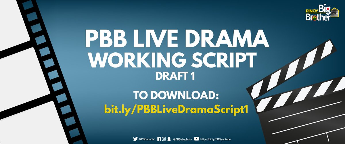 Download the script https://t.co/wX28eV4Dm0 ⤵️ #PBB3rdDTChallenge http...