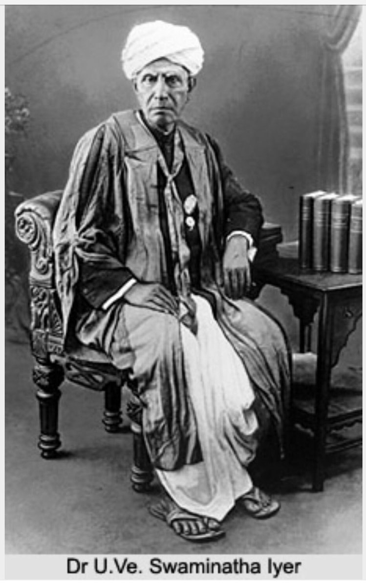 """Pon Radhakrishnan on Twitter: """"My tributes to the great Tamil scholar and  researcher Tamil Thatha Dr.U.VeSwaminatha Aiyer, on his 163 birthday,who  was… https://t.co/hNYGdpeNoU"""""""