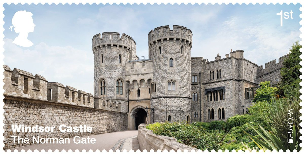 Windsor Castle's grand interior gets the special stamp treatment https...