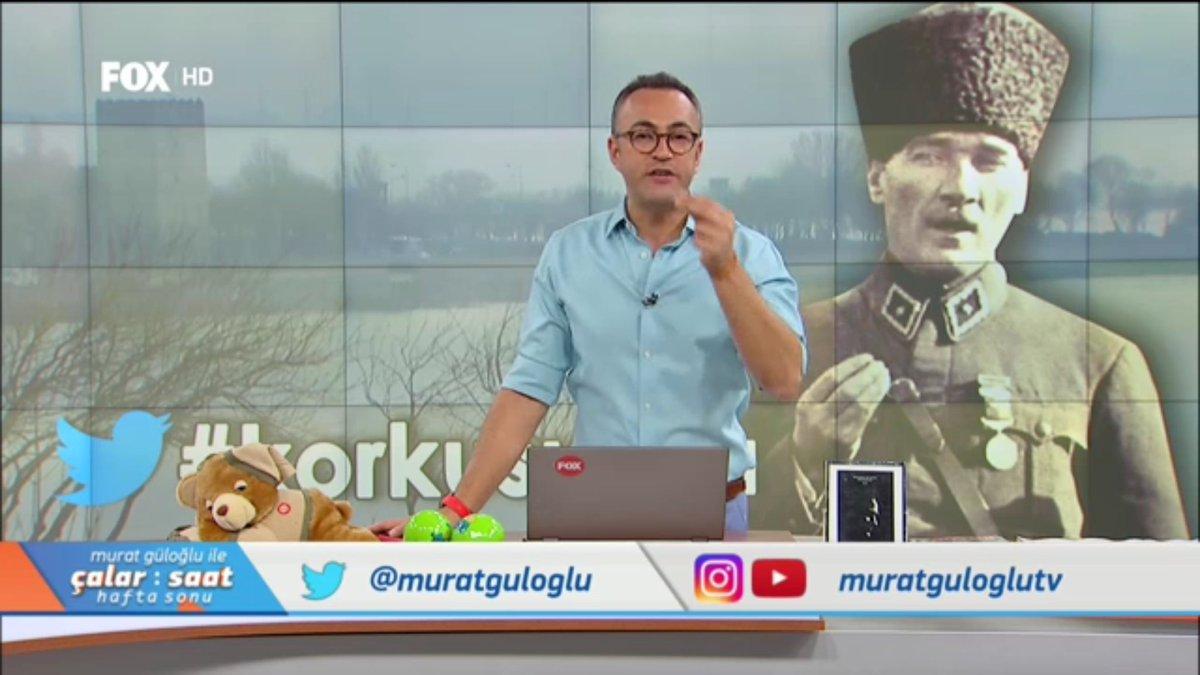 #korkusuzca yazıp görüşlerinizi @muratguloglu ile #ÇalarSaatHaftaSonu'...