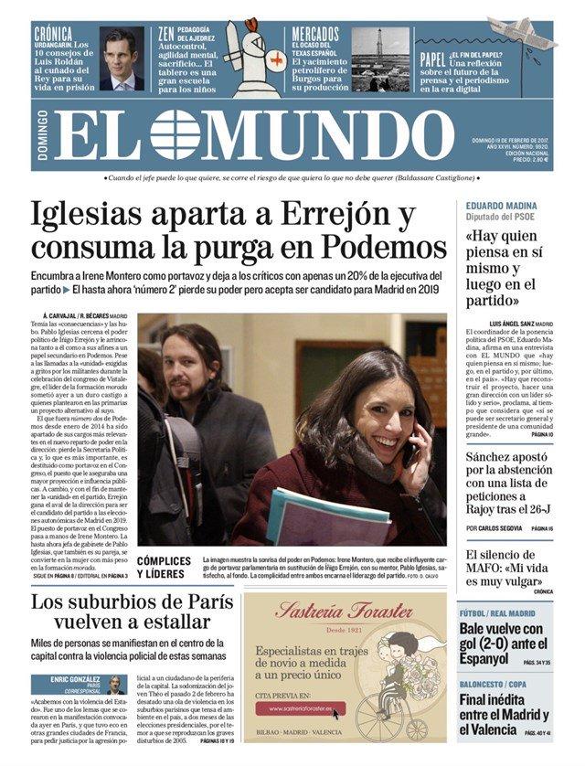 Primeras páginas de los diarios de hoy #FelizDomingo https://t.co/bfOw...