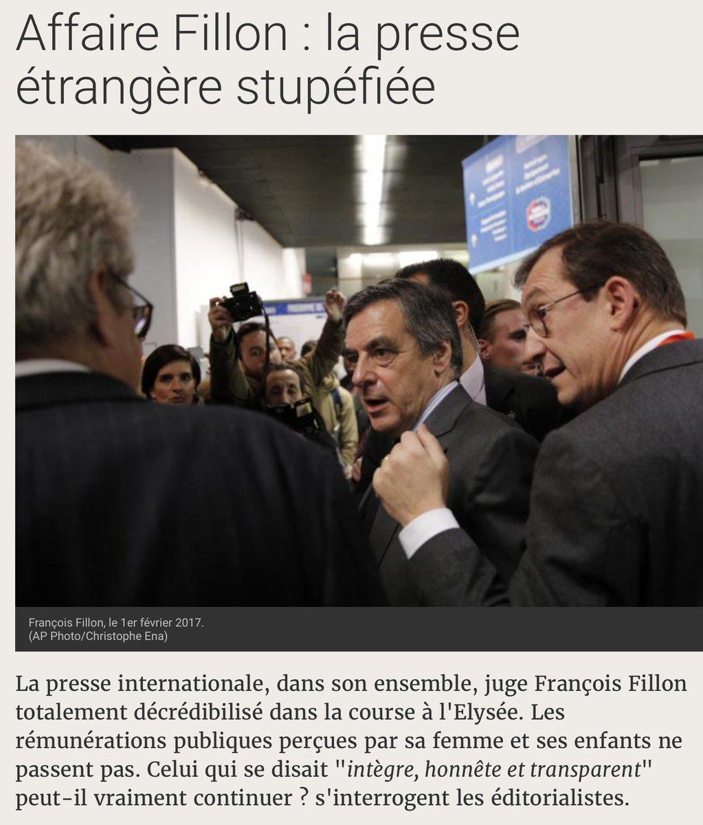 Le maintien de la candidature de #Fillon fait de nous la risée - et la honte - du monde. Une république bananière.  http:// information.tv5monde.com/info/affaire-f illon-la-presse-etrangere-stupefiee-152163 &nbsp; … <br>http://pic.twitter.com/RtzWBdgWTx