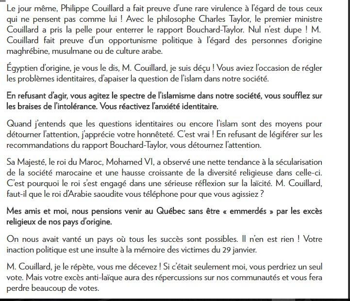 Faut lire ça! L&#39;opinion d&#39;un Québécois d&#39;origine Égyptienne sur l&#39;intolérance de #couillard vis a vis la LAICITÉ #polqc #plq #PQ #khadir<br>http://pic.twitter.com/4W5zTOZCPd