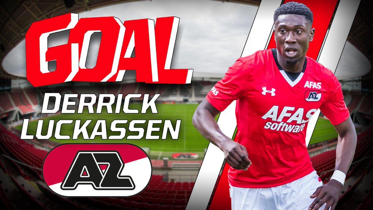 GOAL: Derrick Luckassen maakt de 0-1 voor AZ. Maar hinderde Wout Wegho...