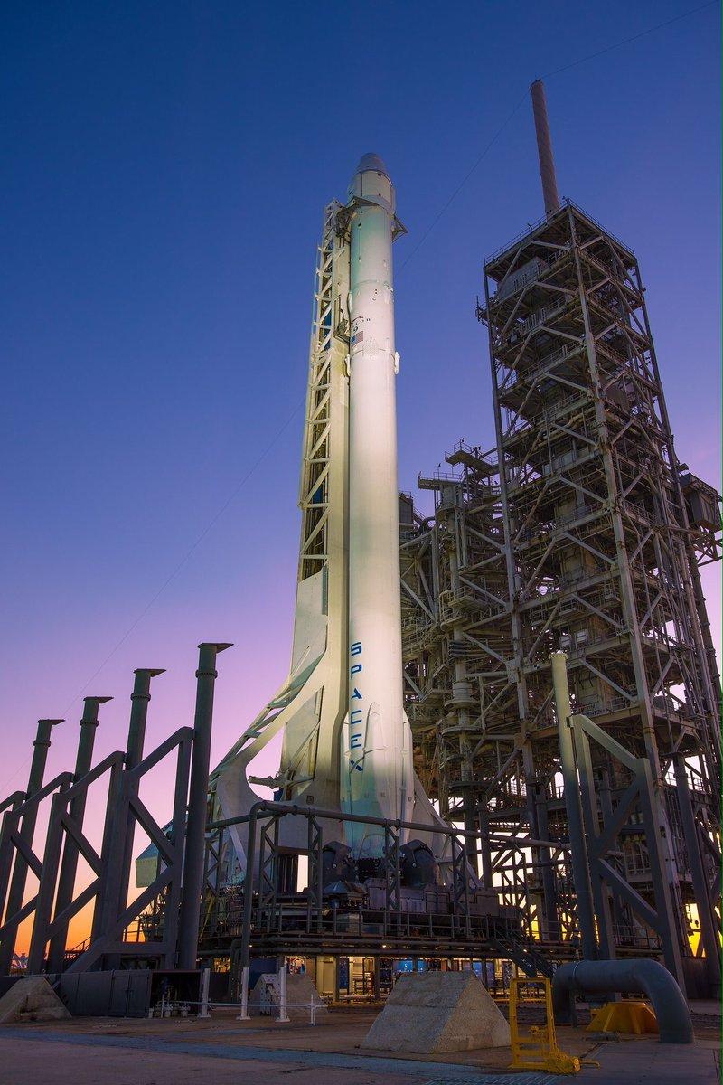 Nouvelle tentative aujourd&#39;hui pr @SpaceX #Falcon9 avec #CRS10 à 14h38 UTC depuis #LC39A en #Floride <br>http://pic.twitter.com/1fx5CR4nOI