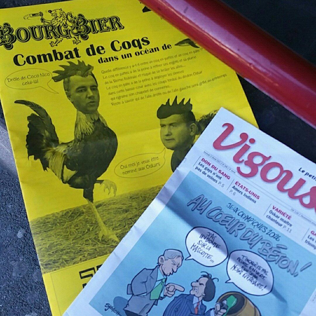 Journal &amp; #Carnaval #BourgBier est dans les bacs! Revue de presse du jour .!Ça change un peu !#Valais #Martigny #humour (enfin on l&#39;espère)<br>http://pic.twitter.com/MJ90VQvLoq