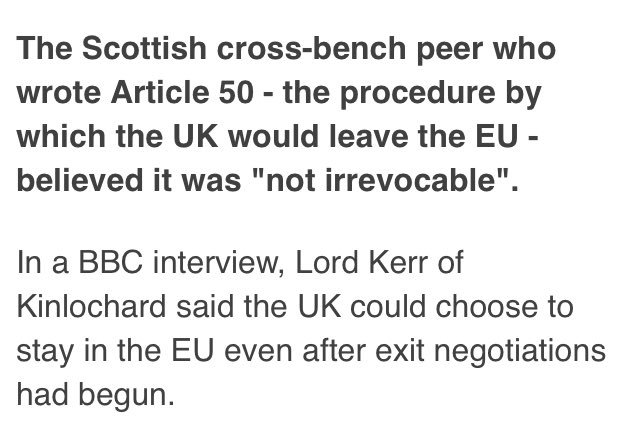 Liz Truss tells #marr that Article 50 is 'irrevocable'. Here's what th...