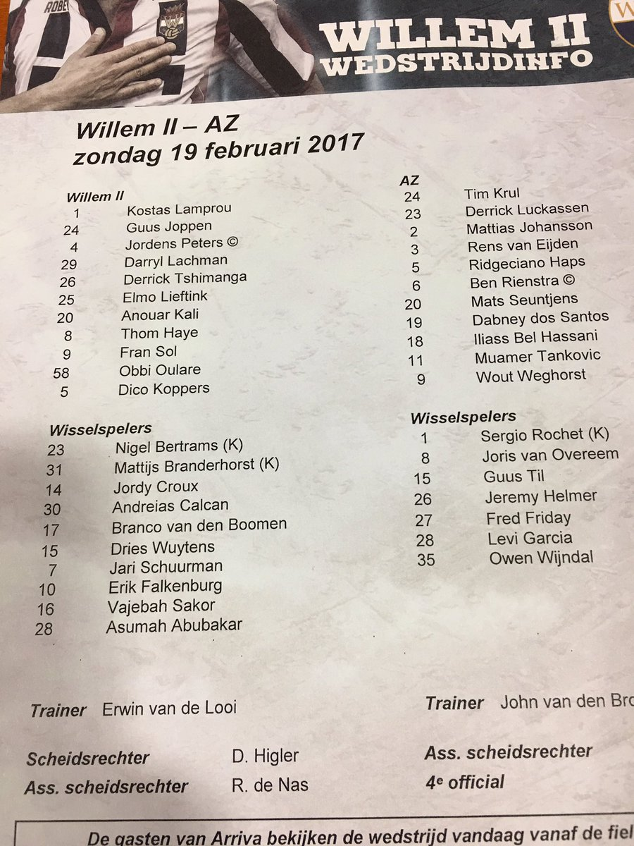 📷 De opstelling in beeld. #wilaz https://t.co/Zo4pBvMyTW