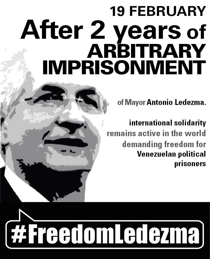 El pasado #19Feb del 2015 @alcaldeledezma fue detenido injustamente. ¡...