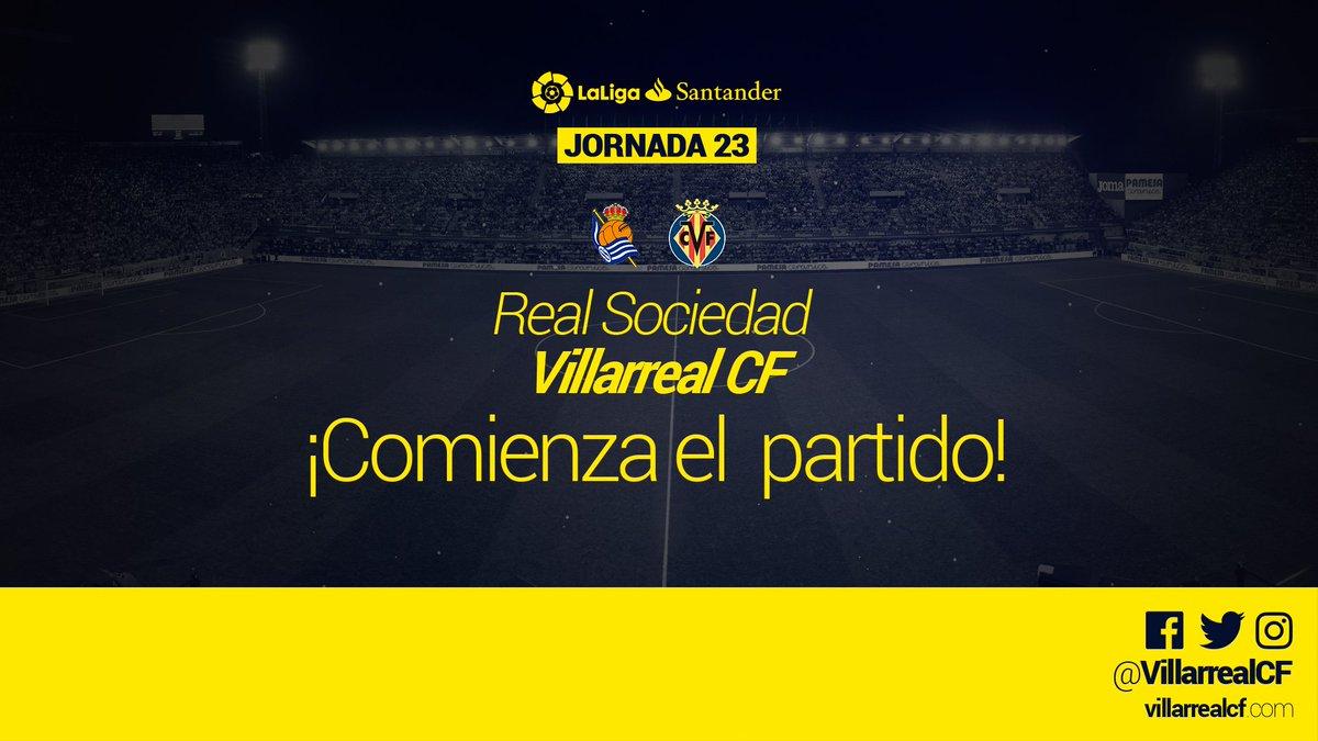 #CVFLive 🚨0-0 1'| ¡COMIENZA EL PARTIDO EN ANOETA! #RealSociedadVillarr...