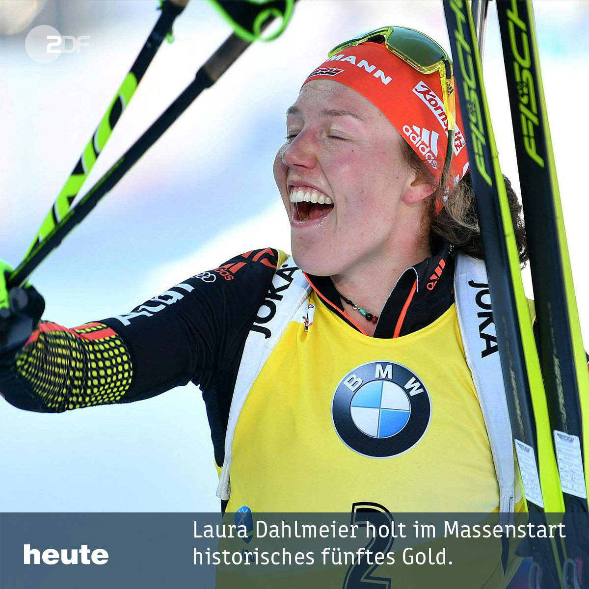 #Rekord mit dem fünften Triumph für Laura #Dahlmeier: Im #Massenstart...