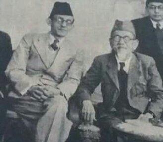 AR Baswedan (kiri) dan Haji Agus Salim (kanan)