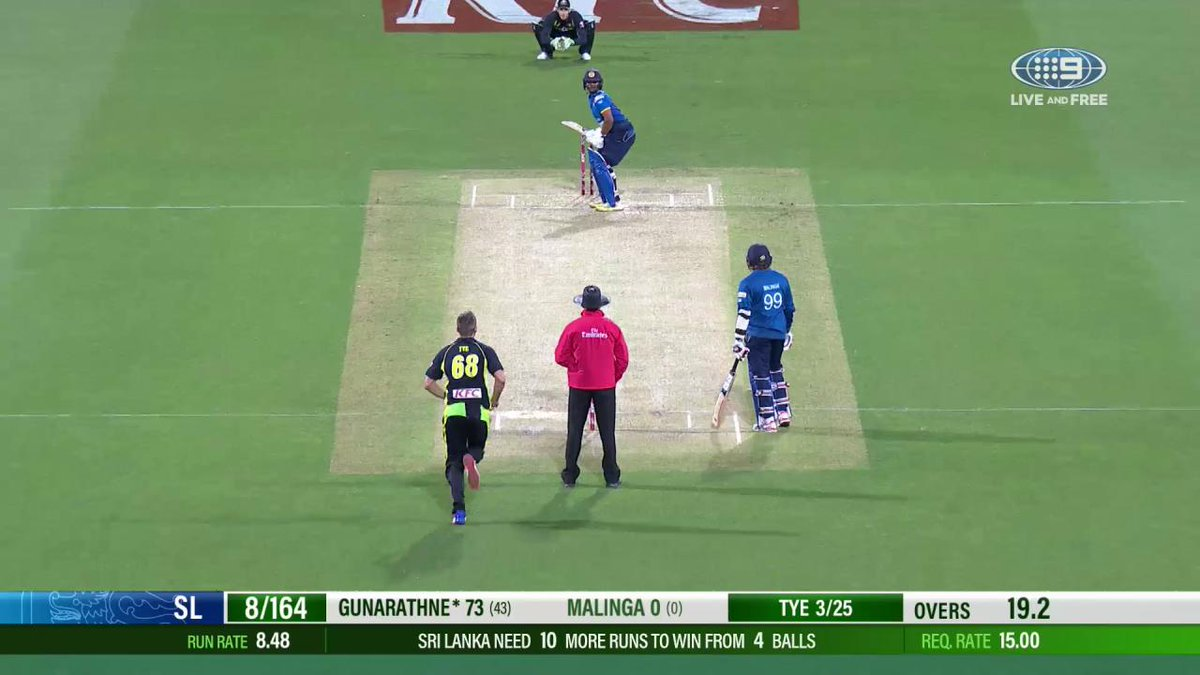 ARE YOU SERIOUS?! #AUSvSL https://t.co/8TxvB2u0Da