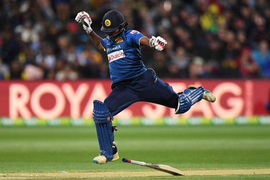 Sri Lanka win a thriller in Geelong off the last ball to seal a series...
