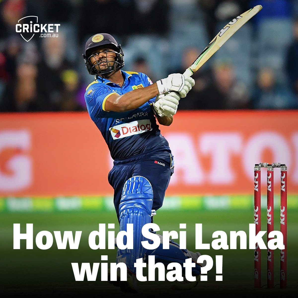 Just remarkable! https://t.co/3XUuevPpBJ #AUSvSL https://t.co/BATijLE2...
