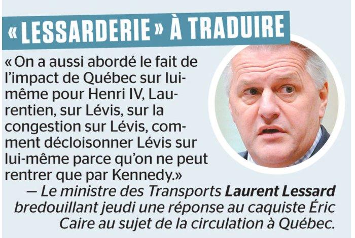 #Lessard fait un #trudeau de son lui-même! Imaginez,ce gars est responsable de 2 gros ministères: Transports et Agriculture Inquiétant, non? <br>http://pic.twitter.com/xkq68koeuw