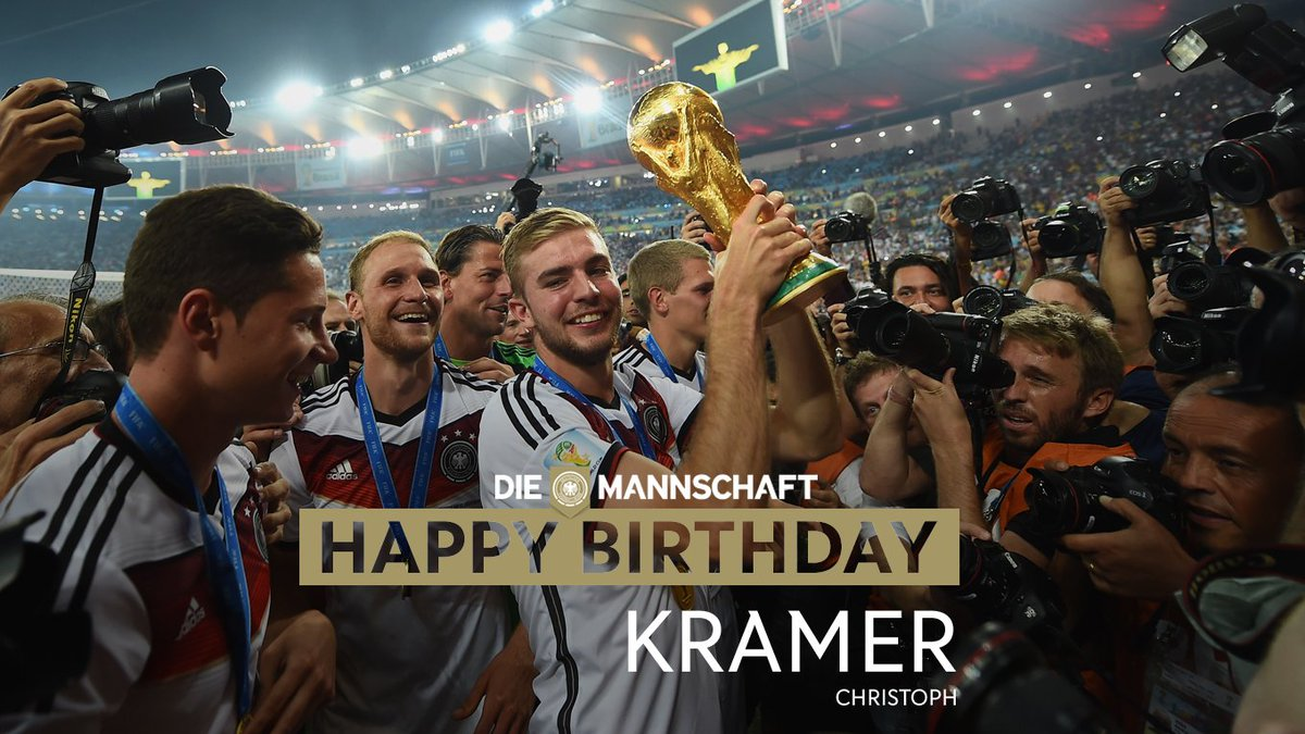 Happy 26th birthday to World Champion, Christoph #Kramer! #DieMannscha...