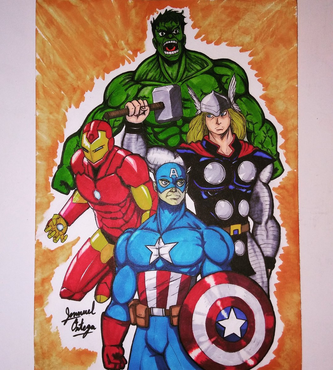 Avengers assemble! #captainamerica #hulk #thor #ironman #marvelcomics<br>http://pic.twitter.com/tqLy79H7Cx