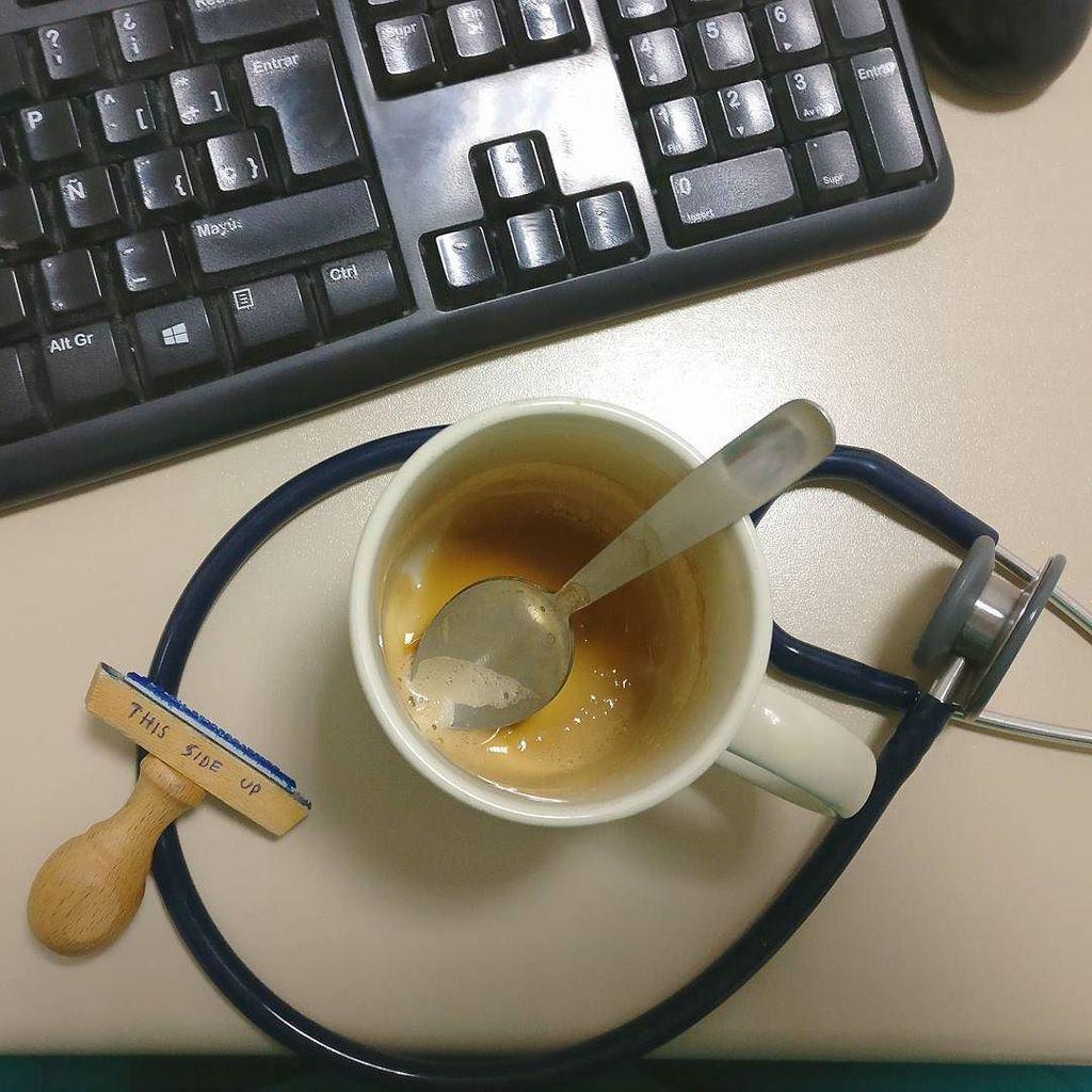 El 4° café de la guardia (+/- otro más dependiendo de cómo se presente la noche) #tengosue…