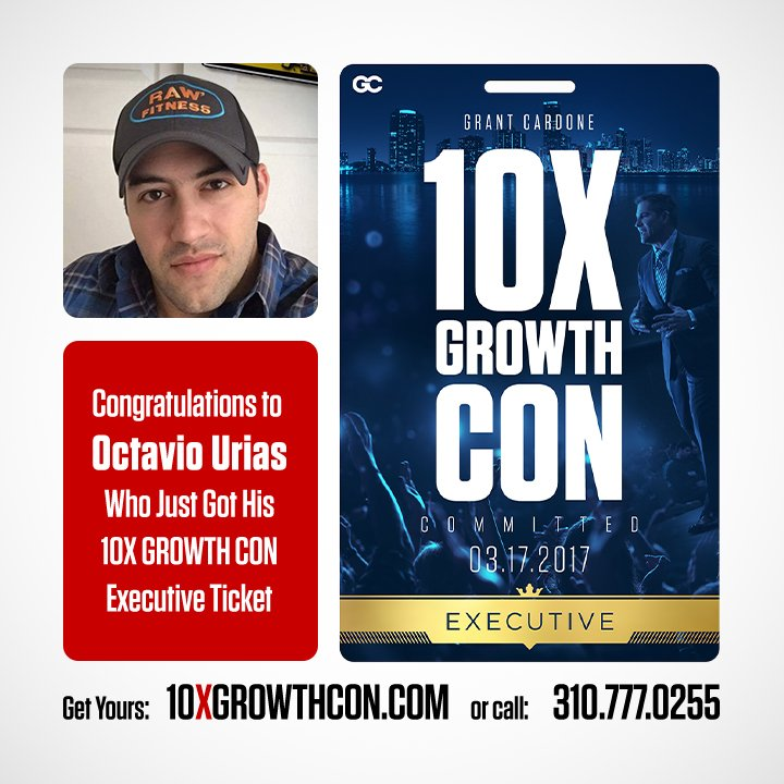 Congrats to @urias_octavio on getting into the #10XGrowthCon!  Learn m...