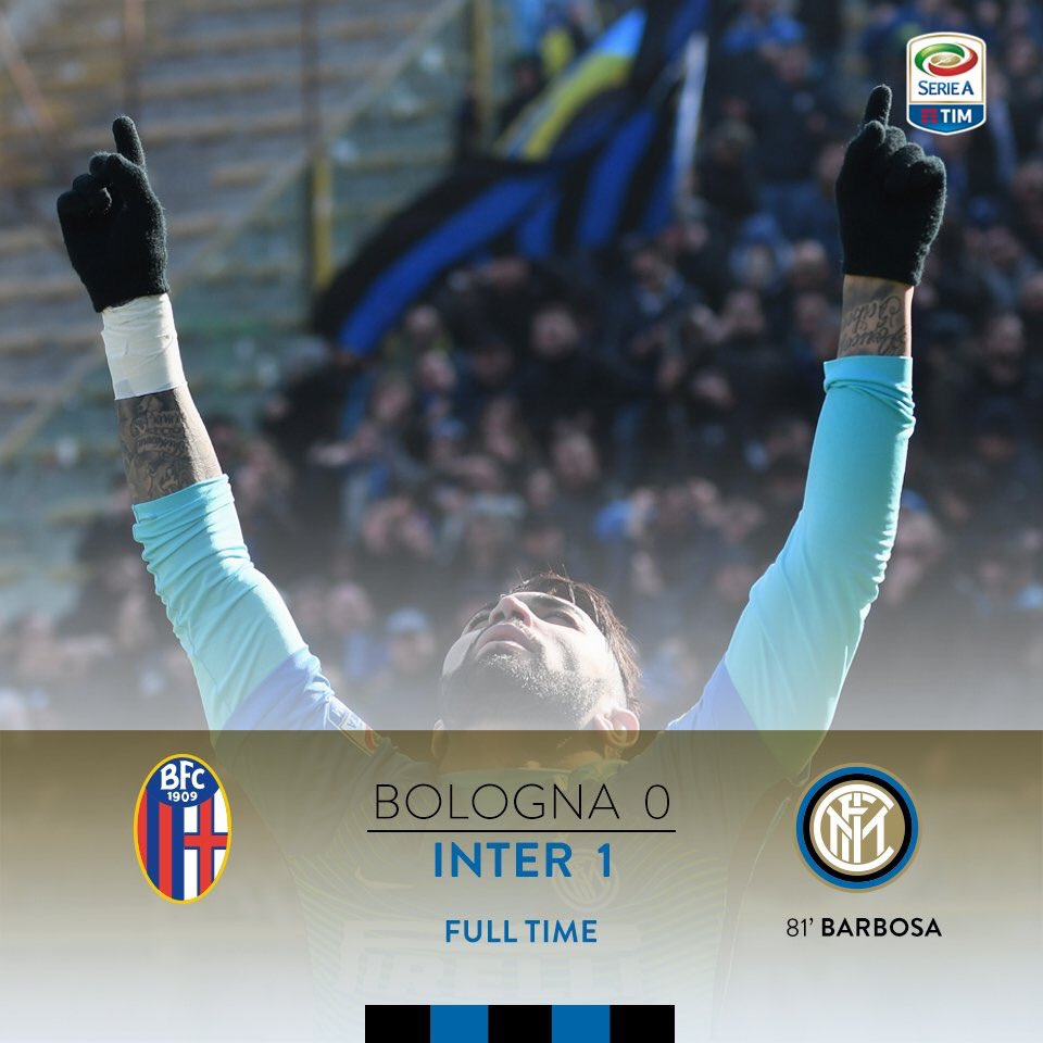 90'+5 - ACABOU!!!!! #BolognaInter 0-1, com participação decisiva de @g...