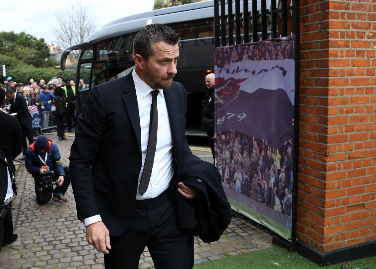 .@Jokanovic arrives at Craven Cottage #COYW https://t.co/BOfCt5K0AH