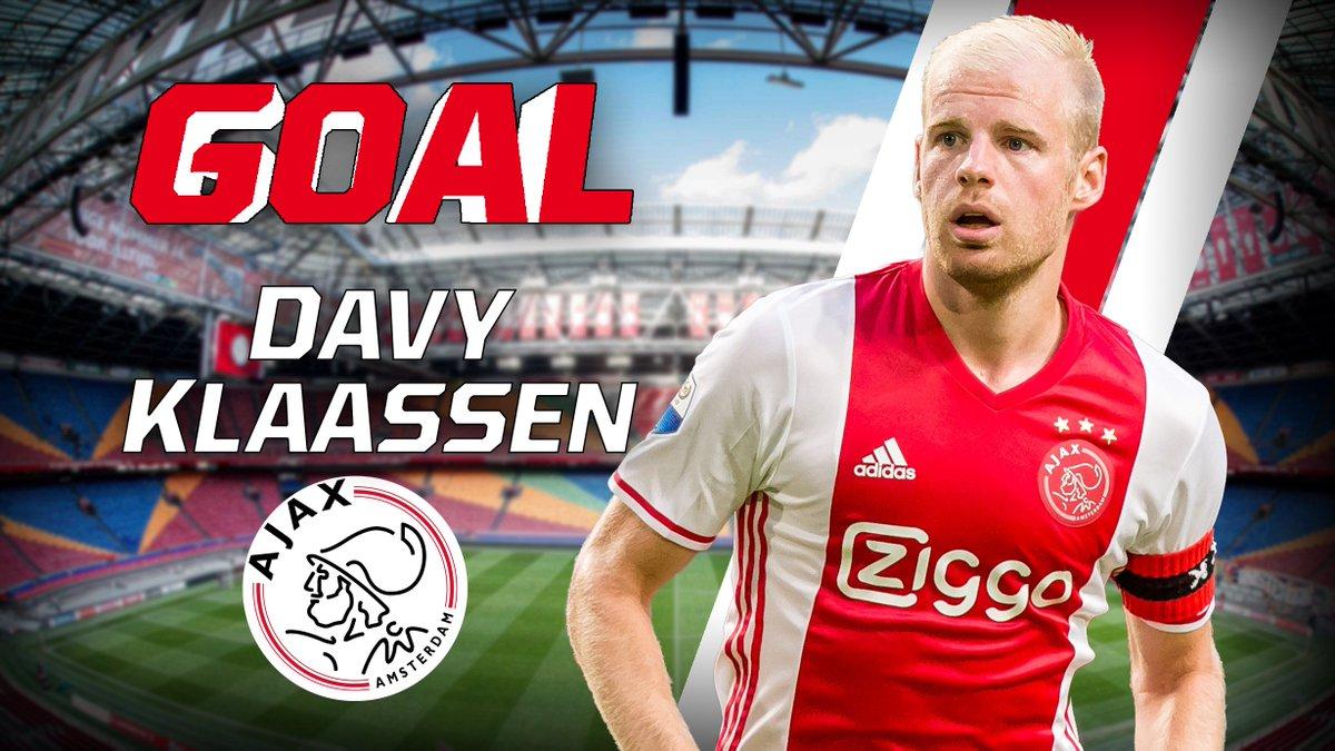 GOAL: Davy Klaassen rondt een counter van Ajax doeltreffend af: 0-1. #...