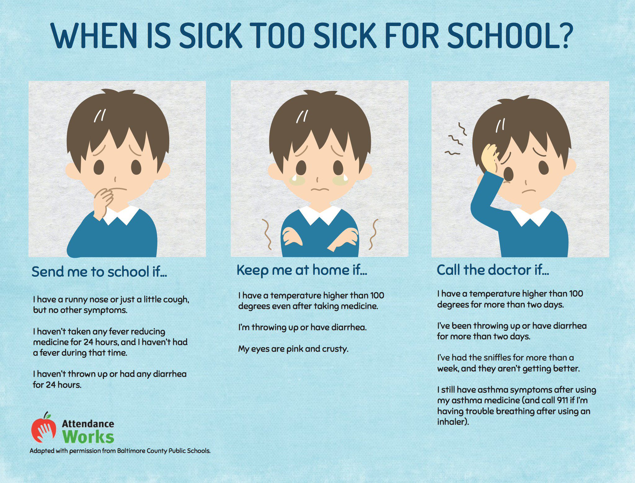 When is a sick child ready for  school? Help parents w/ this postcard: https://t.co/z3NbWh2YeO #SchoolEveryDay @WeCann6 @healthyschools https://t.co/CJXrEGjP5h