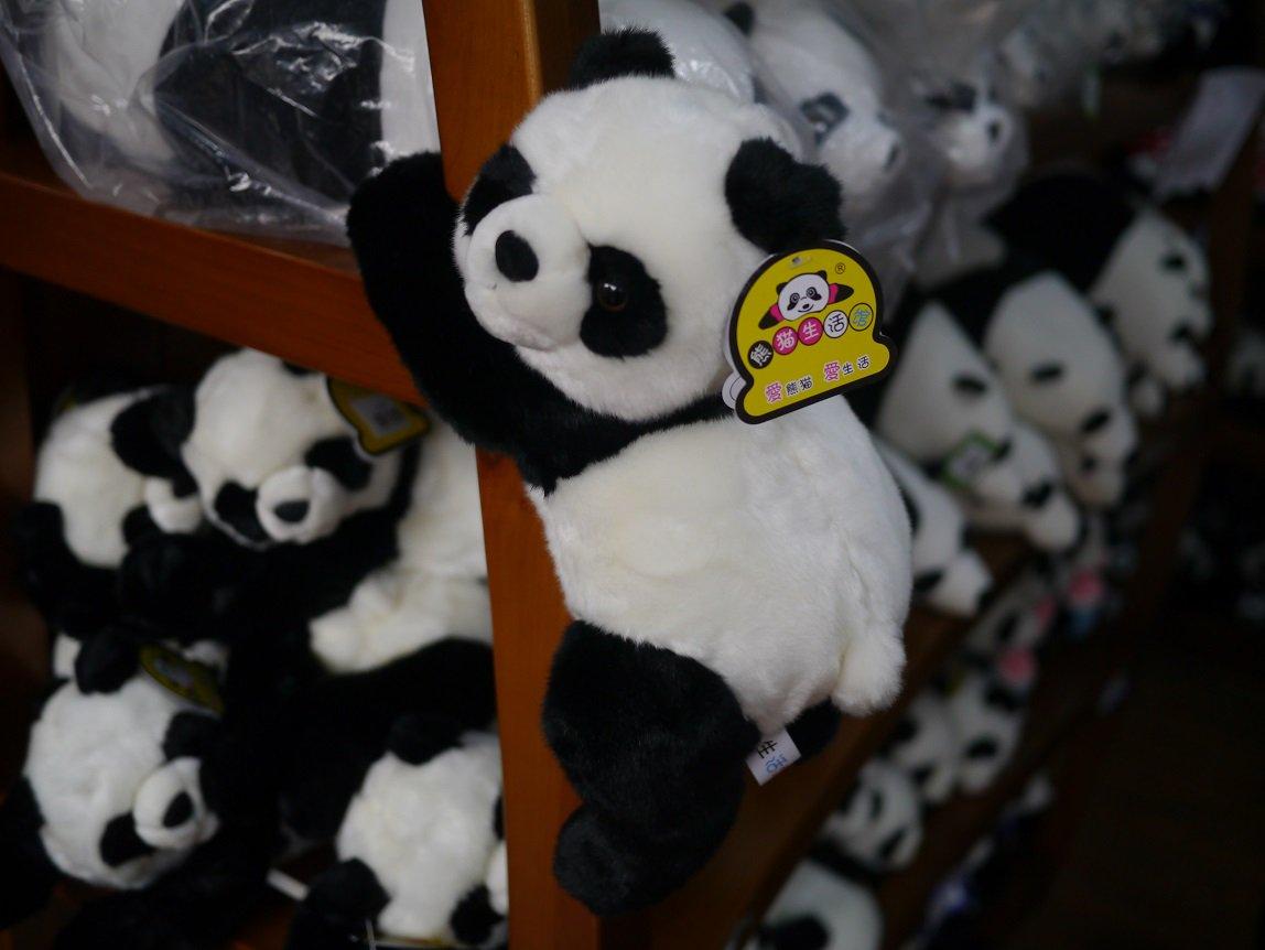 パンダ繁殖研究所みたいなところに行ったのですが、土産物屋の中でパンダ概念が抽象化されていく様子が観察できてゆかいでした https://t.co/SOMxnizGDA