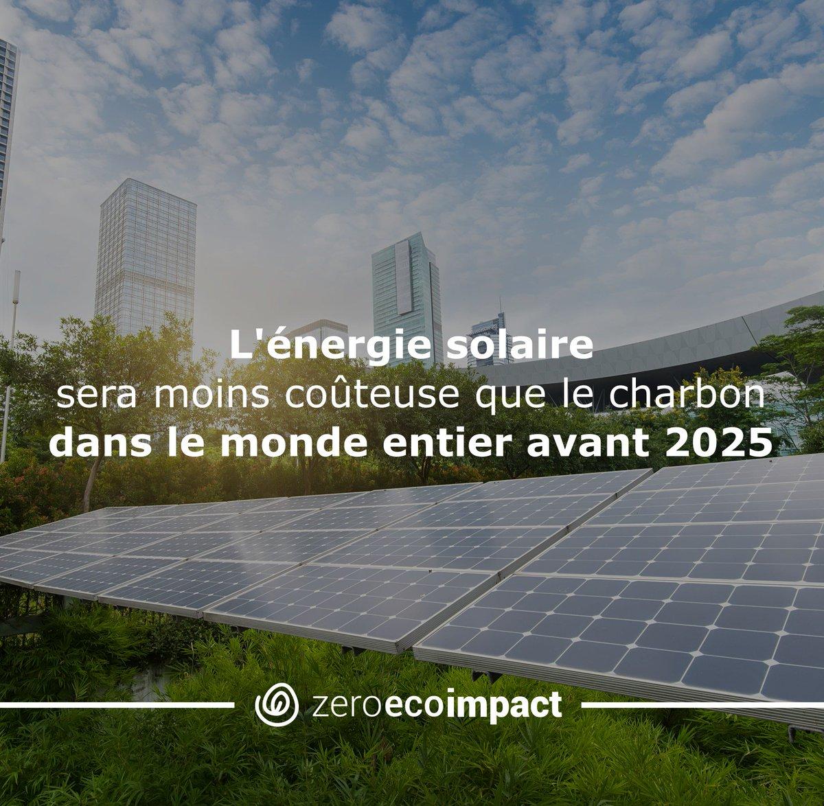 L&#39;énegie solaire devrait devenir plus compétitive que le charbon partout dans le monde dans moins de 10 ans #climatechange #zei<br>http://pic.twitter.com/qam6swsDPU