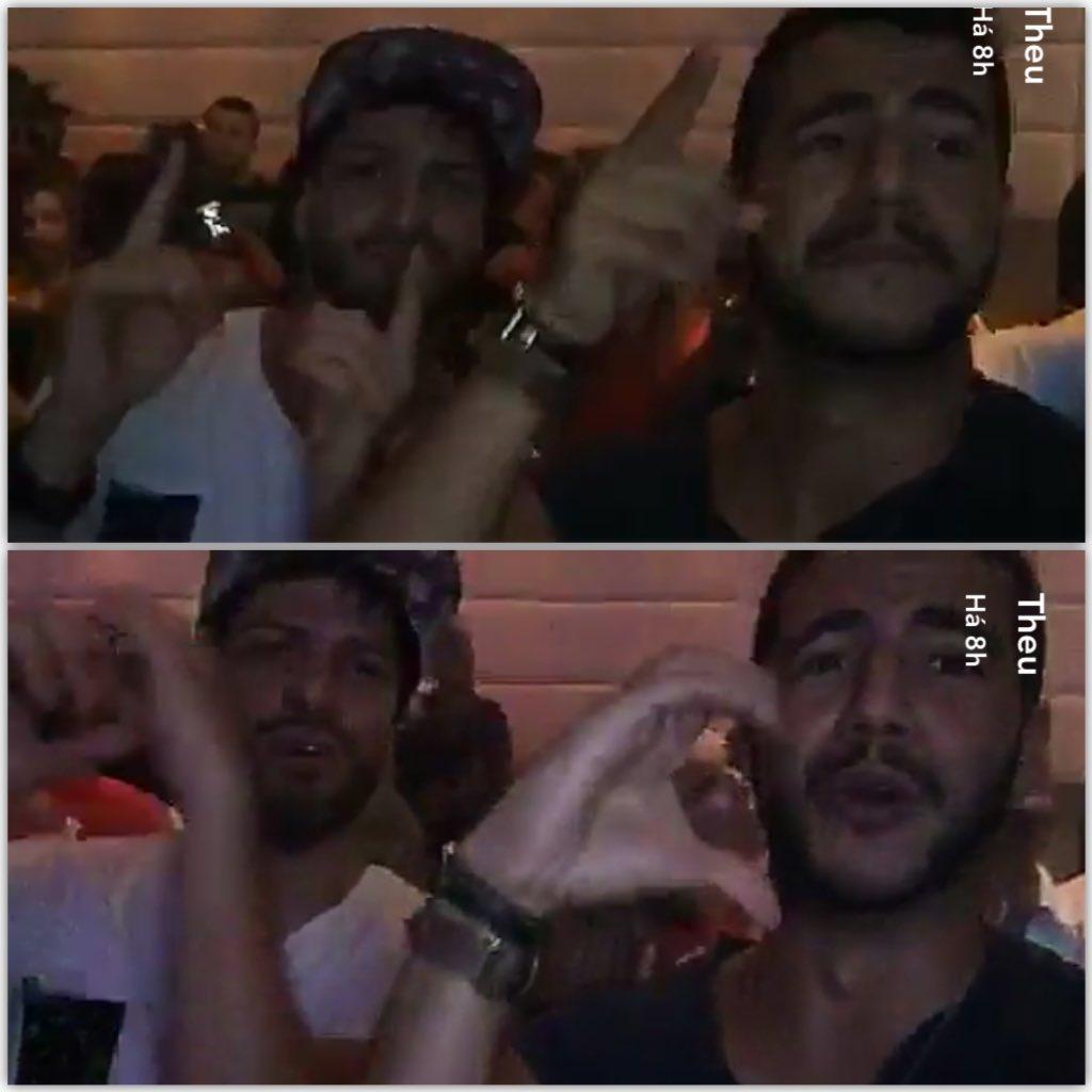 #FOTO Matheus e @luizbaribbb17 dançando deu onda. Via snapchat uaimatheus<br>http://pic.twitter.com/tY6r7MuZNQ