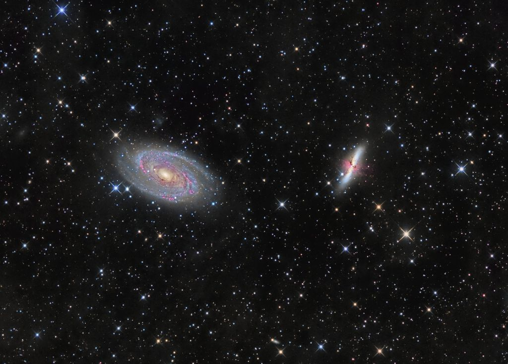 M81 and M82  Image Credit: Ron Brecher  #space #astronomy #scifi #nasa #art #beauty #science #cosmos #galaxy<br>http://pic.twitter.com/T6ynpVSCI0