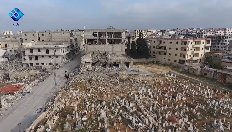 Drone video of the ruins of Kafr Hamra, #Aleppo caused by regime and @mod_russia attacks targeting civilians  https://www. youtube.com/watch?v=uMJGqF IzCxE &nbsp; … <br>http://pic.twitter.com/DnHOdDIdgb
