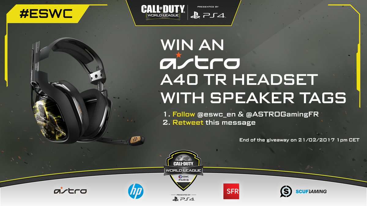 Last ASTRO Gaming Giveaway!  - Follow @eswc_en & @ASTROGamingFR - RT to win