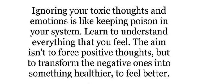 #transmute toxic feelings and thoughts. Identify, face and change pers...