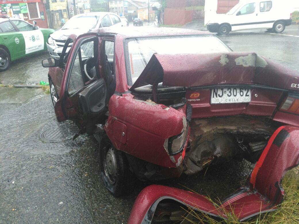 Un lesionado deja violento accidente de tránsito registrado en Puerto...