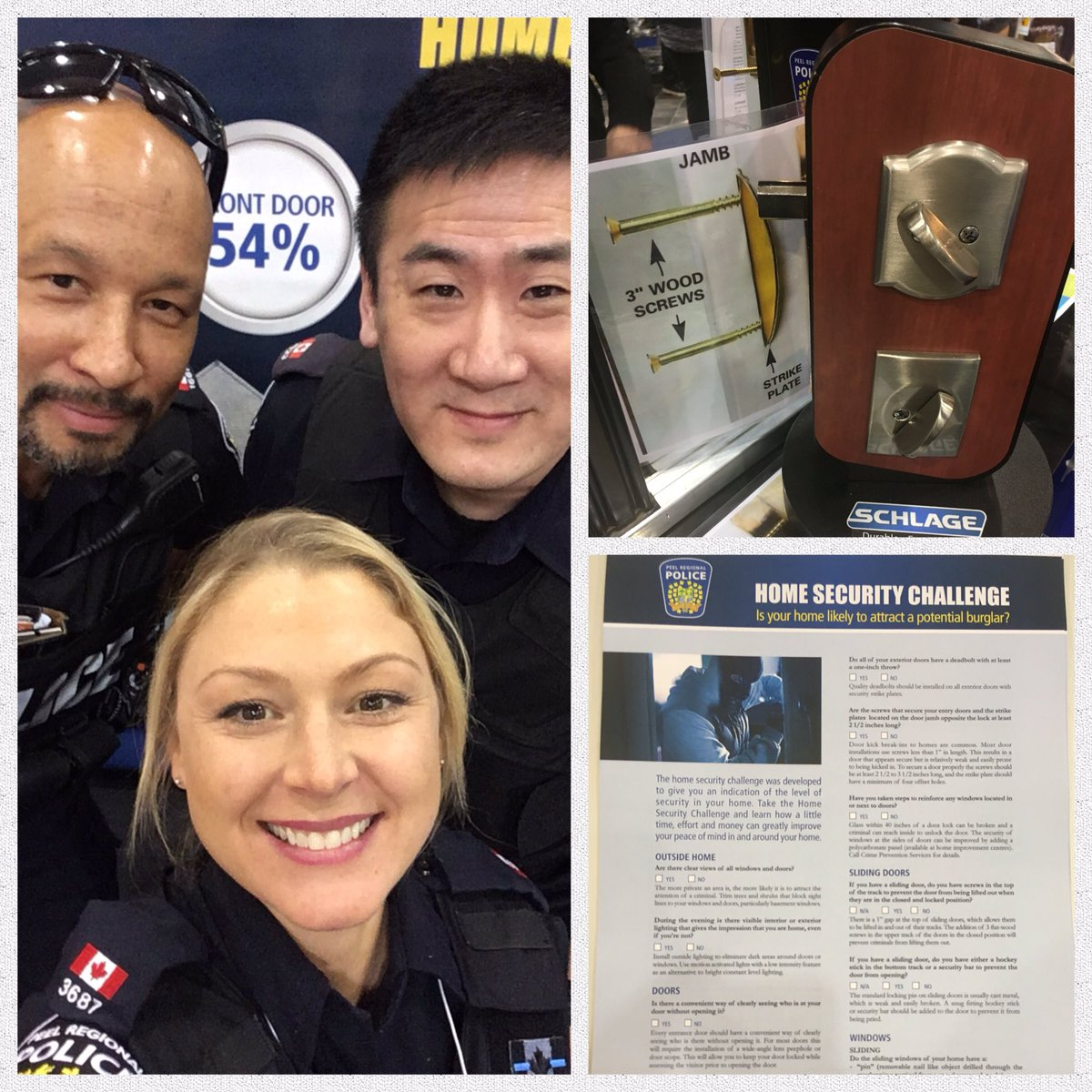 #GTAHomeShow here till 8pm and back tomorrow! Take our #HomeSecurity Challenge this weekend to better protect your home! @PeelPoliceMedia<br>http://pic.twitter.com/zKzQPKodu7
