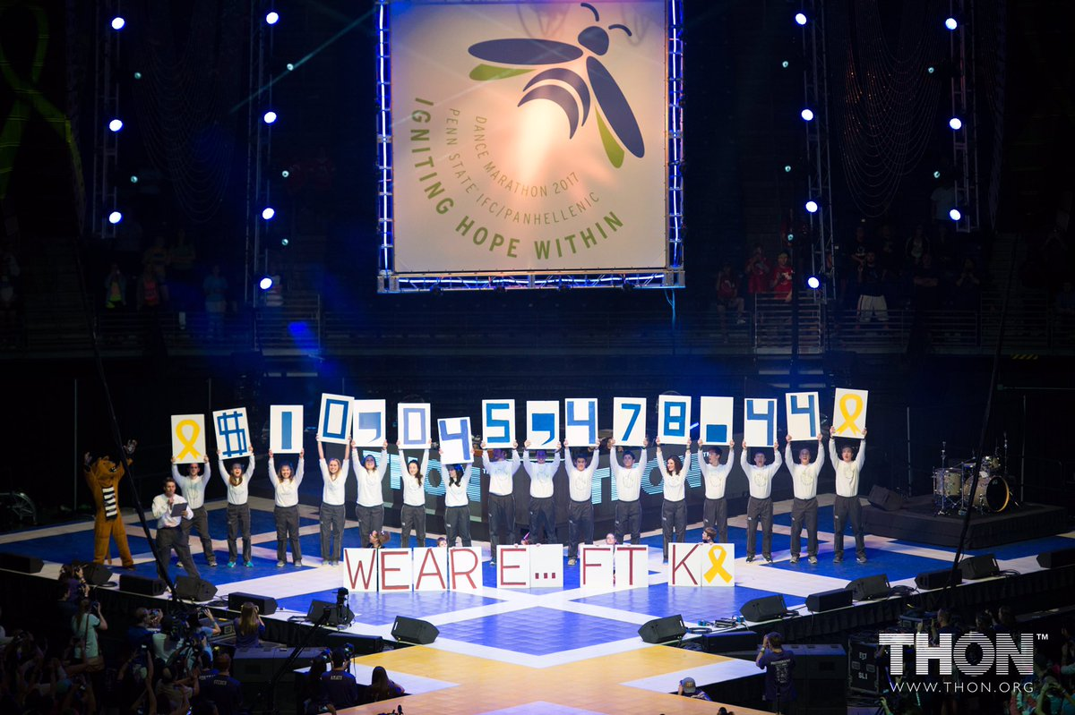 And the total for THON 2017 is... $10,045,478.44 https://t.co/QatuqC6kle