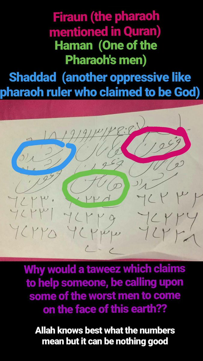 Muslim daily on twitter this is whats written in some of the muslim daily on twitter this is whats written in some of the taweez given to people by holy men i had another that contained symbols of babalonian biocorpaavc Images