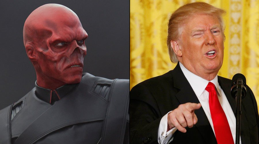 #RedSkull or #Trump? Trolling Twitter account recasts #POTUS as superv...
