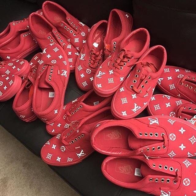 Louis Vuitton x VANS Red Low Top Skate  #vans #vansoriginal #louisvuitton  #skater #skateboarder #luxury #luxurylife #streetstyle #dope<br>http://pic.twitter.com/BK3jy8QhDl