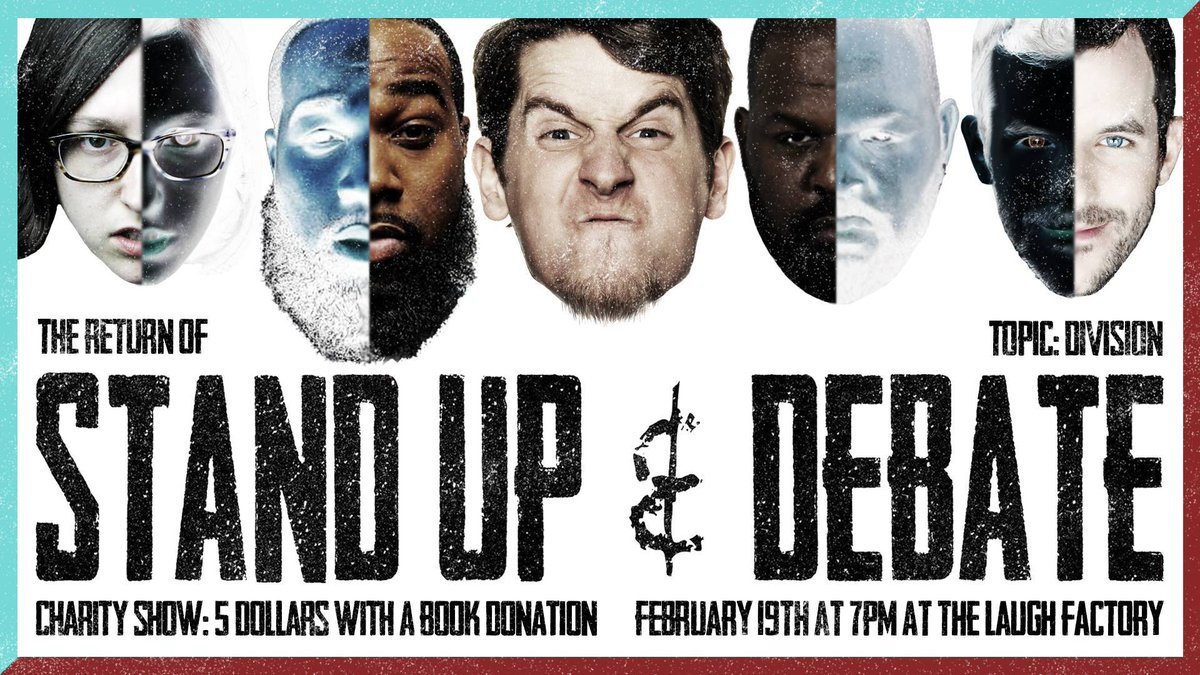 .@StandupNDebate 2NITE at 7pm! Bring a book for @OpenBooks and get $5 tickets! Show Info:  http://www. laughfactory.com/clubs/chicago/ date/2017-02-19 &nbsp; …  #Debate #literacy #chicago<br>http://pic.twitter.com/lzFC6Nq3Ed