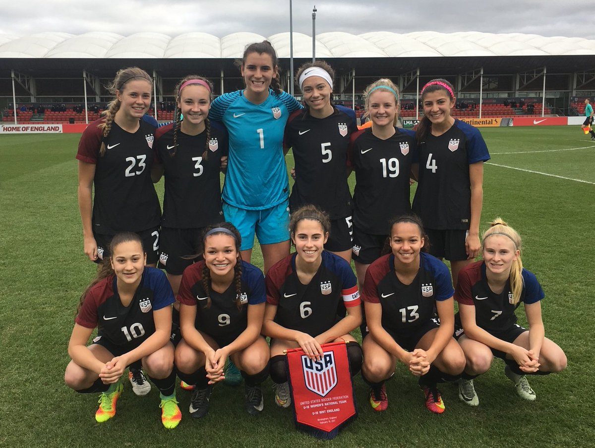 The U-18 #USWNT downed England, 3-1, today on two goals from Sophia Smith and one from Summer Yates in the first of three games in England. <br>http://pic.twitter.com/u4xkzIvXHV