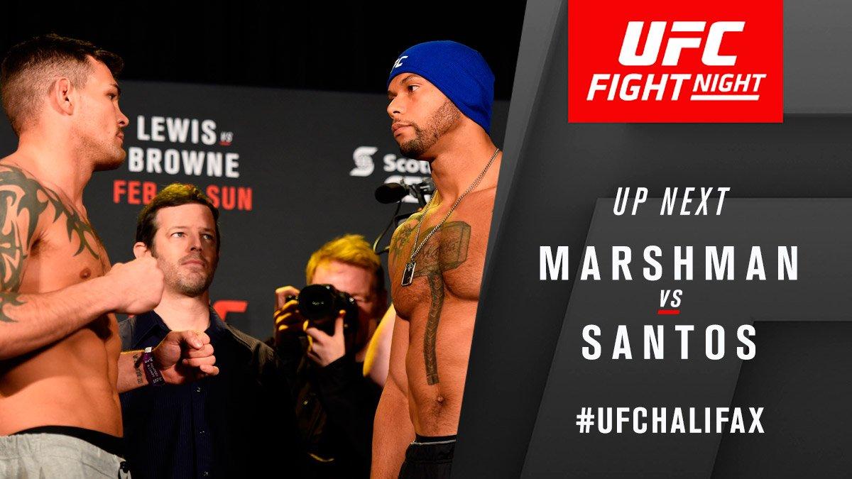 🔨 @JackMarshman battles @TMarretaMMA NOW at #UFCHalifax LIVE & FRE...