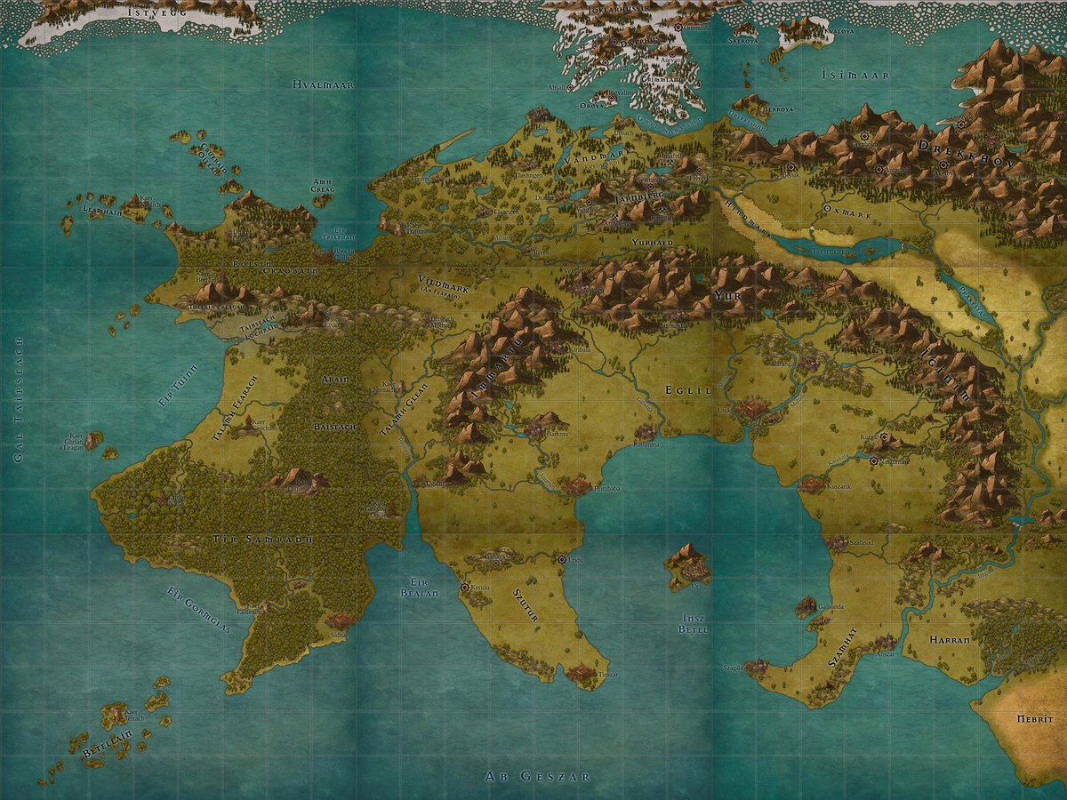 Inkarnate World Map.Inkarnate On Twitter Featured Map An Epic 9 Piece Continent