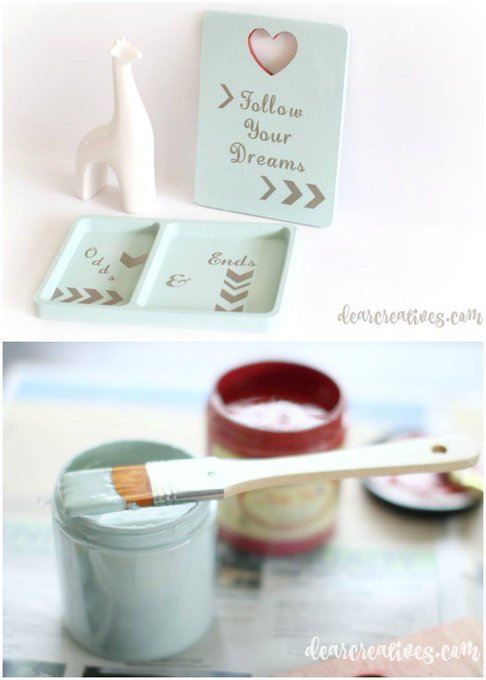 DIY Craft Projects That Anyone Can Do! Catch All Tray & Wall Plaque