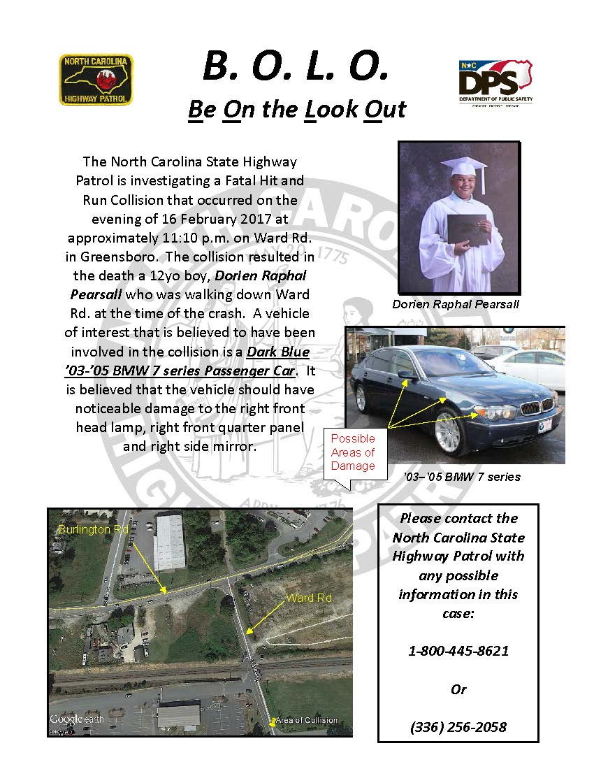 State Highway Patrol requesting public's assistance in locating hit-and-run vehicle https://t.co/irouLtBAHI