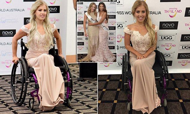 26-річна австралійка в інвалідному кріслі взяла участь в конкурсі Miss World